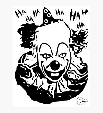 Laughing Killer Clown  Photographic Print