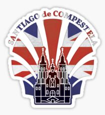 UK England Britain Camino de Santiago Sticker