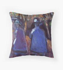 An odd couple Throw Pillow