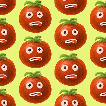 Funny Cartoon Tomato Pattern by azzza
