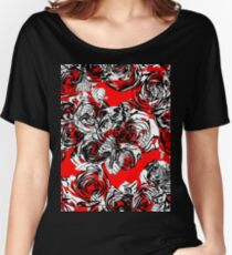 Roses Wild RED Women's Relaxed Fit T-Shirt