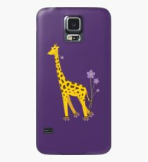 Purple Cartoon Funny Giraffe Roller Skating Case/Skin for Samsung Galaxy