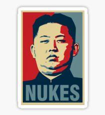 Kim Jong Un Nukes parody Sticker