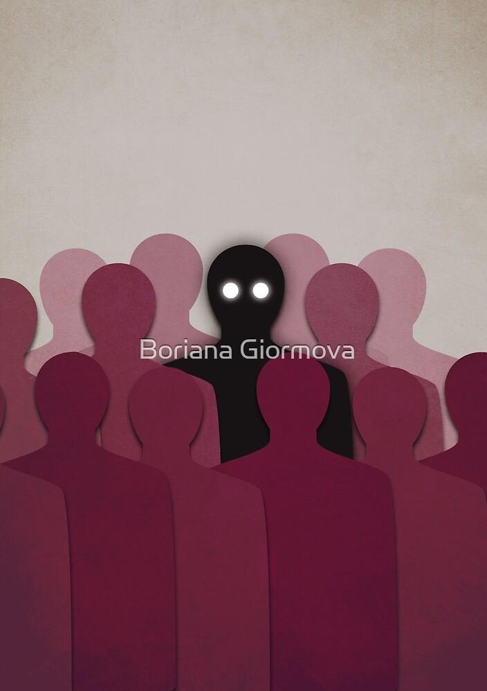 Different And Alone In Crowd by Boriana Giormova