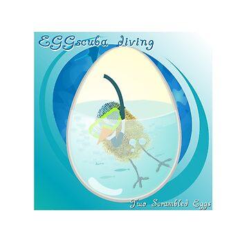Two Scrambled Eggs - EGGscuba diving by Kartoon