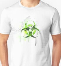 Symbol of biological danger drawn with paint T-Shirt