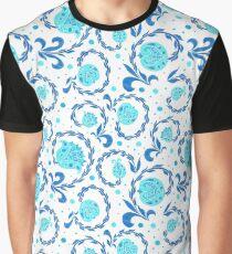 Folk Embroidery. Gzhel Graphic T-Shirt