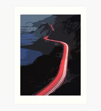 Pacific Coast Highway at night Art Print