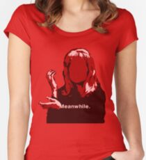 Meanwhile Laura Palmer Twin Peaks Women's Fitted Scoop T-Shirt