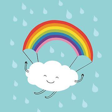 Rainbow parachute by Milkyprint