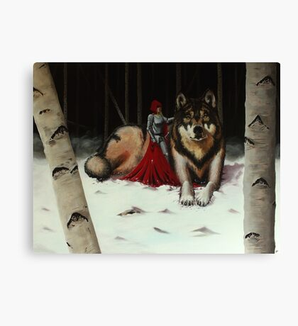 Red and Wolf Canvas Print