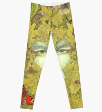 The Green Man of Spring Leggings