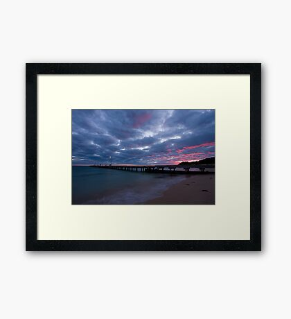 Watching The Clouds Catch Fire Framed Print