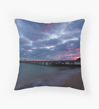 Watching The Clouds Catch Fire Throw Pillow