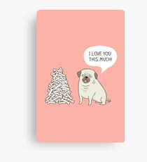 pug's love Canvas Print