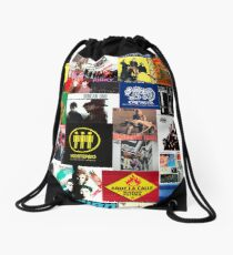 spain and southamerica rock and pop bands Drawstring Bag