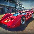 Red Can-Am 1968 McLaren M6B by Stuart Row