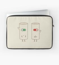 log on and log off Laptop Sleeve