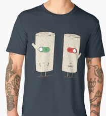 log on and log off Men's Premium T-Shirt