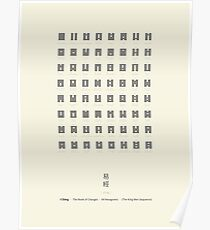 I Ching Chart With 64 Hexagrams (King Wen sequence) Poster