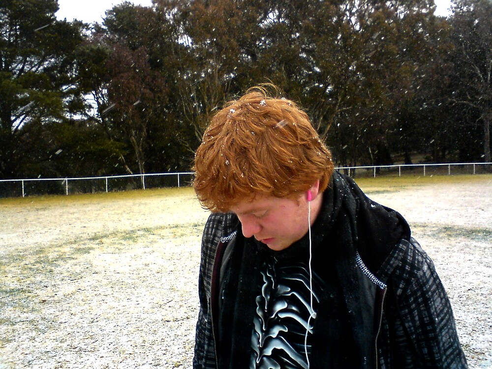 snowing on my firechild by exposedbutloved
