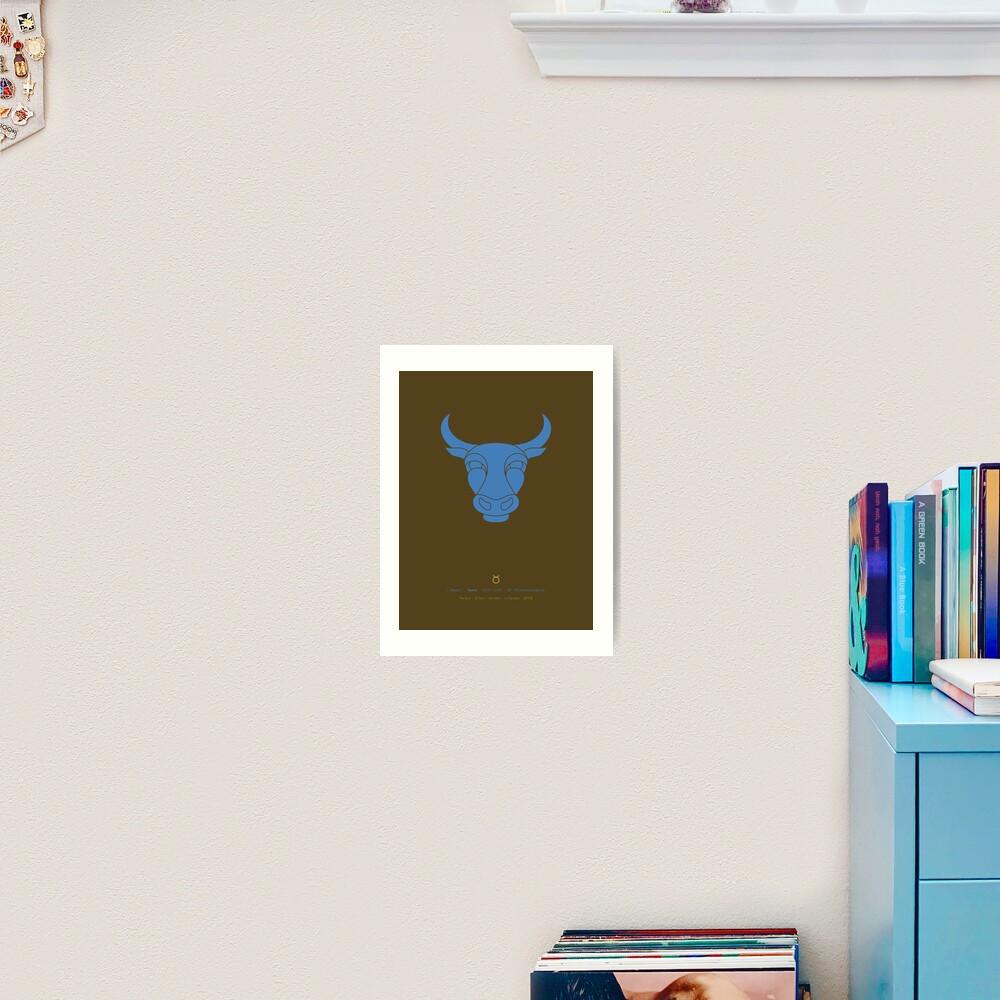 Taurus Zodiac / Bull Star Sign Poster Art Print