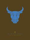 Taurus Zodiac / Bull Star Sign Poster by Thoth Adan