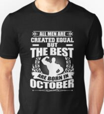 Men Born in October Birthday T-Shirt, Funny Humor Graphics T-Shirt