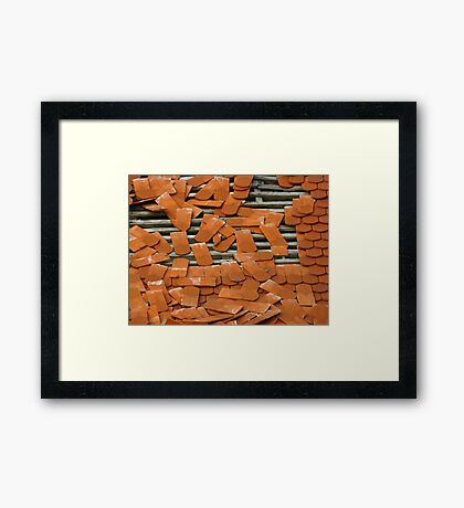 The roof... Framed Print