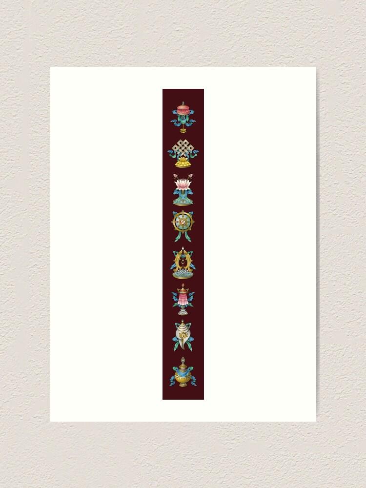 Alternate view of Ashtamangala Eight Auspicious Signs Art Print