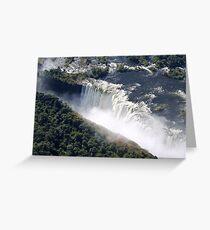 Aerial view Victoria Falls  Greeting Card