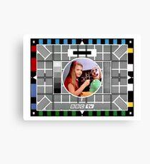Classic 'BBC test card' Canvas Print