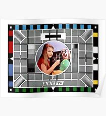 Classic 'BBC test card' Poster