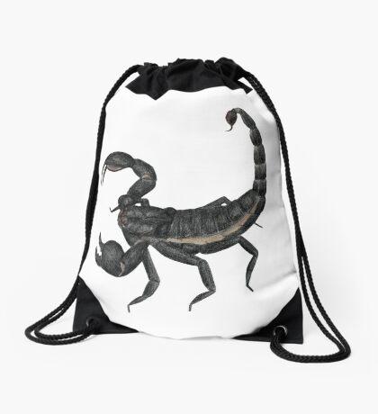 Black Scorpion Drawstring Bag
