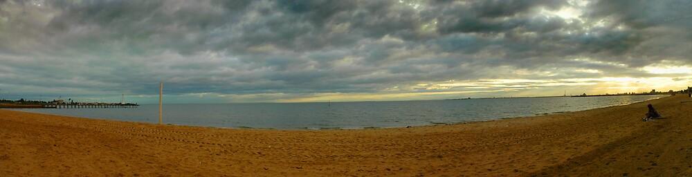 St Kilda Beach by Claye Herdman