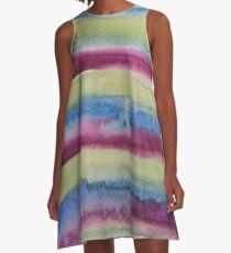 Waterfalls Rainbow A-Line Dress