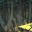 Dark Young of Sub-Niggurath - Art by Andrey Fetisov by Chaosium