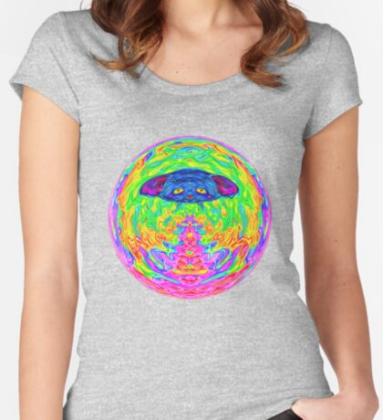 Unidentified Flying CatBat Fitted Scoop T-Shirt