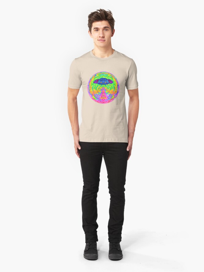 Alternate view of Unidentified Flying CatBat Slim Fit T-Shirt
