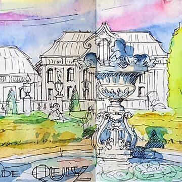 Palácio de Queluz. Garden.  by terezadelpilar
