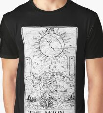 The Moon Tarot Card - Major Arcana - fortune telling - occult Graphic T-Shirt