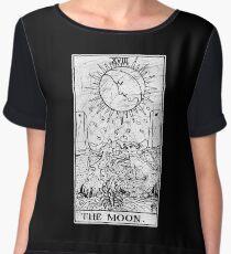 The Moon Tarot Card - Major Arcana - fortune telling - occult Women's Chiffon Top