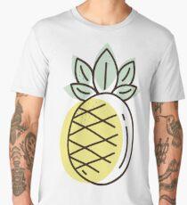 pineapple flat illustration Men's Premium T-Shirt