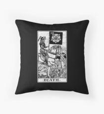 Death Tarot Card - Major Arcana - fortune telling - occult Throw Pillow
