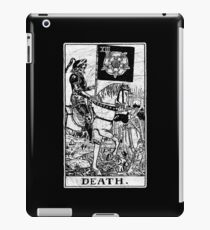 Death Tarot Card - Major Arcana - fortune telling - occult iPad Case/Skin