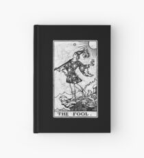 The Fool Tarot Card - Major Arcana - fortune telling - occult Hardcover Journal