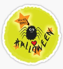 Hairy Boris Loves Halloween! Sticker