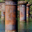 Bridge Pylons to Nowhere! by Bev Woodman