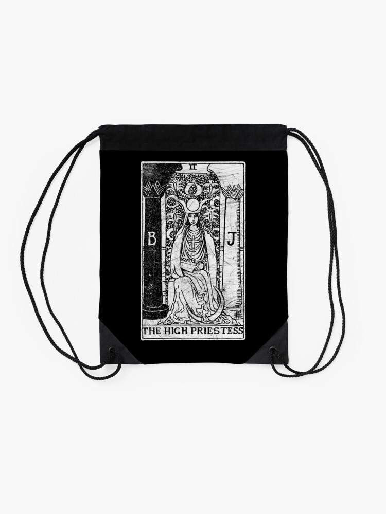 Alternative Ansicht von Die Hohepriesterin Tarot Card - Major Arcana - Wahrsagerei - okkult Turnbeutel