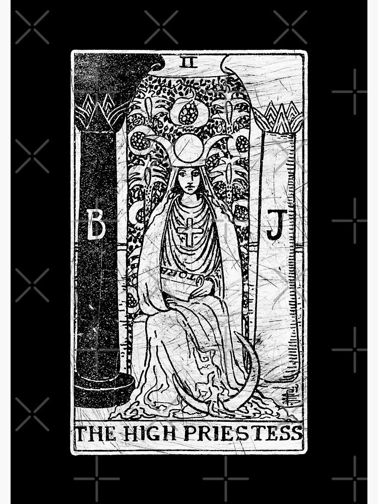 The High Priestess Tarot Card - Major Arcana - fortune telling - occult |  Spiral Notebook